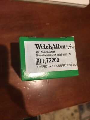 WELCH ALLYN BATTERY # 72200 - 3.5V - ORIGINAL, NEW Rechargeable Free Shipping
