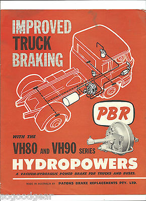 PBR REPCO VH80 and VH90 HYDROPOWERS SALES BROCHURE