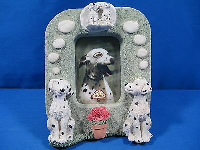 Fancy Frames Dalmatian Dogs Puppies Picture Frame Stone Resin 3D United Design