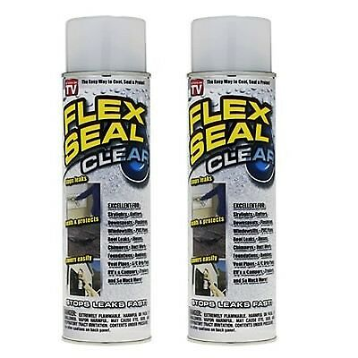 Flex Seal Clear Set of 2 Cans spray stuff thick 14 OZ