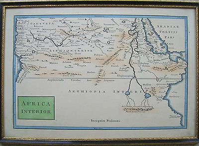 Africa Interior: antique map by William Toms, 1729 and later
