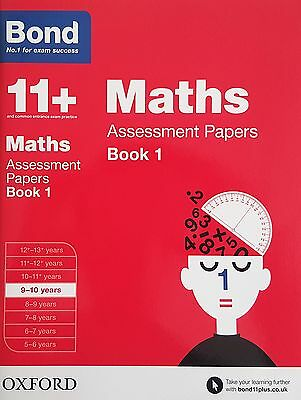 Bond 11+: Maths Assessment Papers: Book 1 [9-10 Years] NEW - RRP £7.99