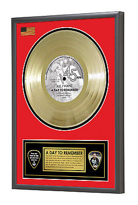A Day to Remember All I Want Framed Gold Disc Display Vinyl (45rpm)