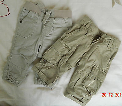 baby boys trousers x2 size 3-6 months