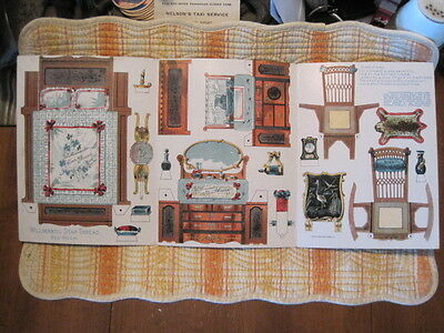 WILLIMANTIC STAR THREAD - Vintage Unused Furniture Cut-Outs - BED-ROOM