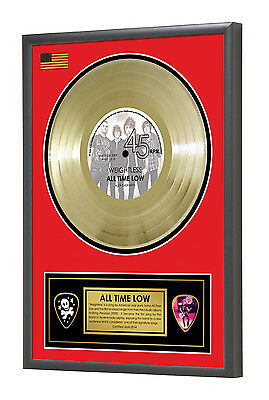 All Time Low Weightless Nothing Personal Framed Gold Disc Display Vinyl (45rpm)