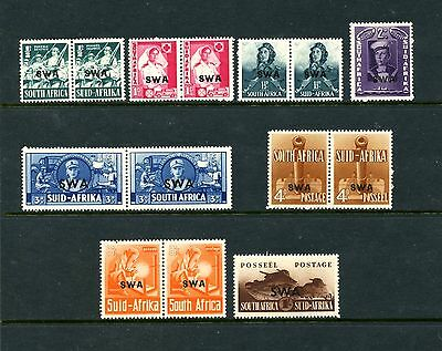 South West Africa #135-142 (SWA102) O/P 1941-3 Issues, M,LH, CV$48.95