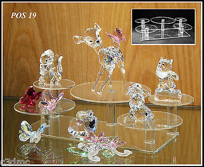 Glass display stands for Swarovski crystal POS 19 x 1