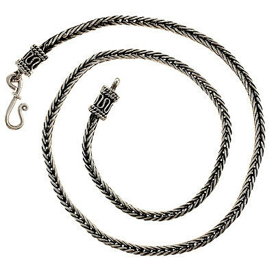 ELEGANT TAXCO WHEAT STYLE NECKLACE | Mexico Silver Jewelry