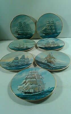7 Fleetwood Plates The Great Ships of the Golden Age of Sail Chas Lundgren