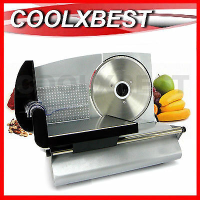Electric Food Slicer Processor Meat Deli Cheese Bread Vegie 200W
