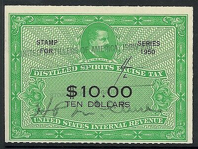 Us Revenues-Ds Excise Tax, Used, Rx10 $10, Great Jumbo Piece