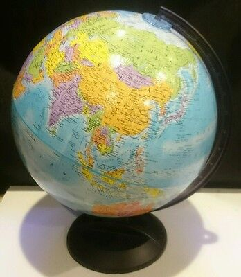 "Globemaster New Millennium World 12"" Relief Globe plastic Base"