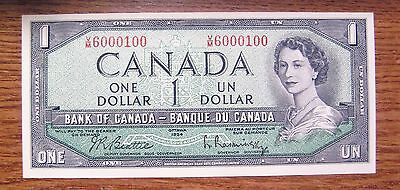 Canada 1954 $1 Matched Pair Same Serial Numbers Diff. Prefix Take a Look