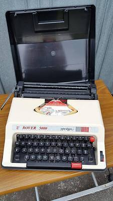 Rover 5000 Portable Typewriter with Case