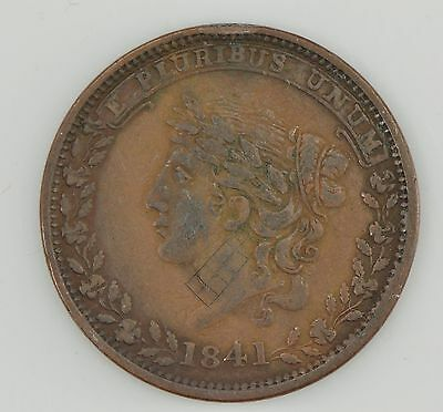 """1841 Hard Times Token """"Specie Payments Suspended"""" *Z01"""
