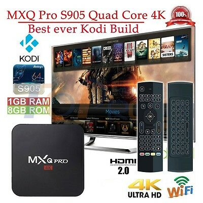 MXQ PRO S905 Quad-Core Android 6.0 TV Box Fully Loaded+Air Mouse KeyPad Remote