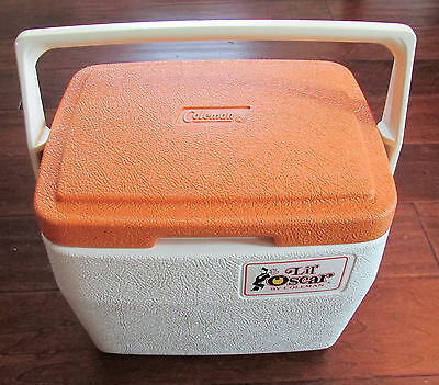 "Vintage 1982 COLEMAN ""Lil' Oscar"" MINI COOLER Ice Chest Lunch Box #5272"