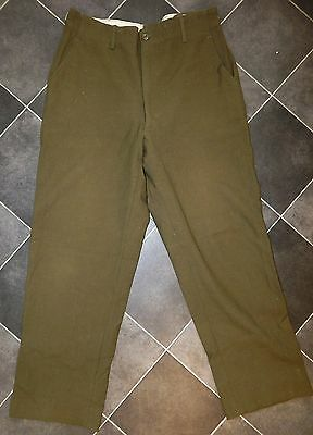 Vtg Statham M-1951 US Army Navy Military WOOL Cold Weather Trousers FIELD Pant M