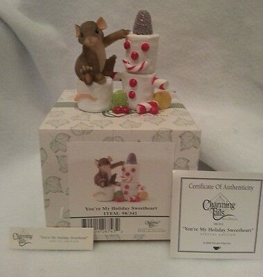 FITZ & LOYD CHARMING TAILS My Holiday Sweet Heart 98/341