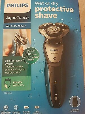 Philips AquaTouch S5420/06, Wet and Dry Men's Electric Shaver Brand New UK STOCK