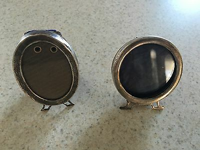 Two Vintage Sterling Silver Picture Frames