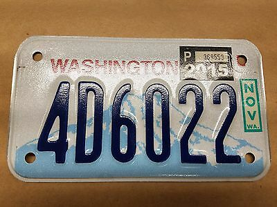 Washington Motorcycle License Plate 4D6022 - free shipping!