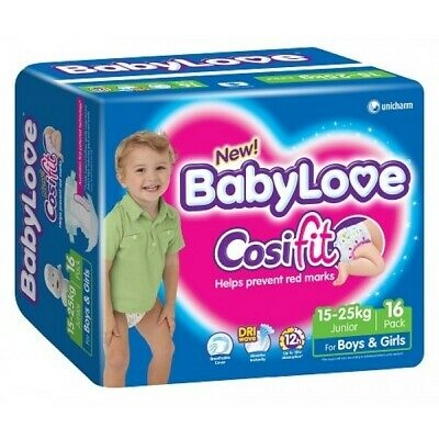 New BabyLove Cosifit Nappies Junior 15-25kg 16 Pack