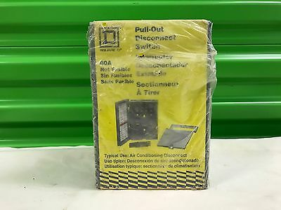 New 60 Amp 240 Volt Pull-Out Disconnect Switch Fp222R Square D