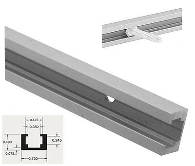 "48"" ALUMINUM T-track T-slot, Band Saw, Router Table Saw Jig 3/4x1/2 OD, 4ft, SM"
