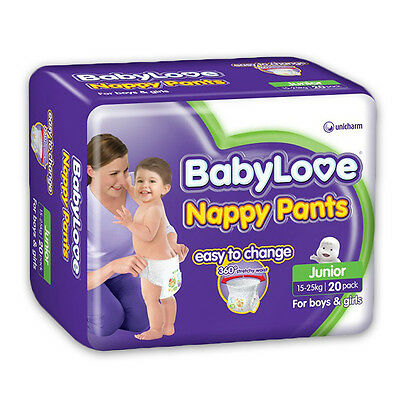 BabyLove Nappy Pants Junior 15-25kg 20 Pack