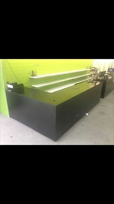L-Shape Service Counter (Black), Glass Display Cabinets