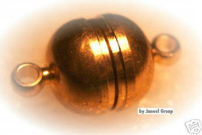 4 pieces, 10mm Gold Tone High Power Magnetic Clasps
