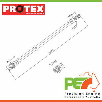 New Genuine *PROTEX* Hydraulic Hose - Front For TOYOTA TOWNACE CR21R 3D Van RWD