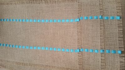 SET of 6 BURLAP PLACEMATS Table mats Country Jute Handmade Place Mats Decor