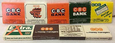 Commercial Banking Company Match Collection. 5 Matchbooks & 4 Matchboxes