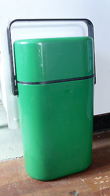 1980s INSULATED DECOR BYO 2 BOTTLE CARRIER * GREEN