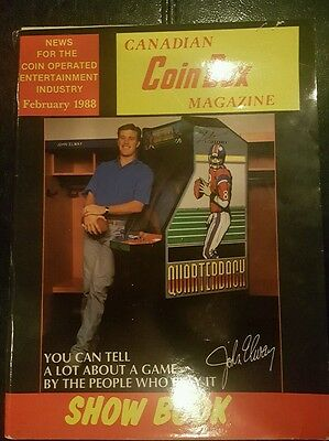John Elway Cover of Canadian Coin Box Magazine from February 1988 Vintage Rare