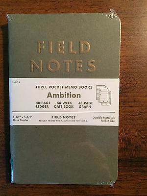 Field Notes Ambition Pack New Sealed Gilded Ledger Graph Date Book