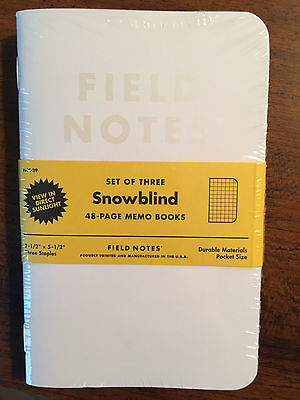 Field Notes Snowblind Edition Sealed Notebook 3-Pack