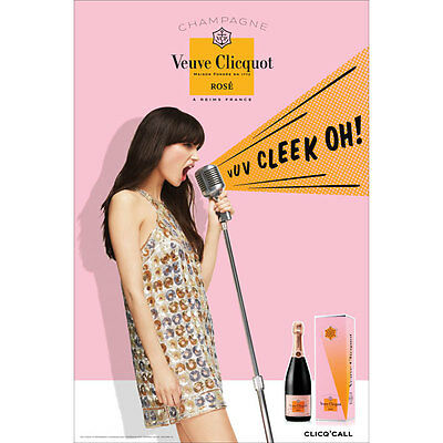 Veuve Clicquot Rose Poster  24 By 36  New