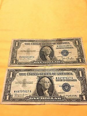 1935d and 1957b Silver Certificates  $1 Notes