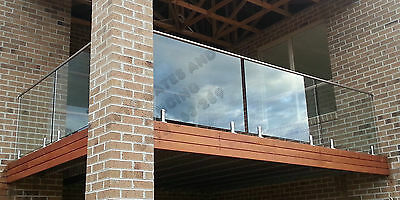 Stainless Steel Glass top Railing, Pool Fence, Glass Fencing,