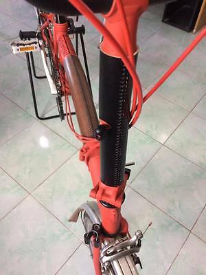 Brompton Leather Stem Protector ( Stitch Edition in Black )