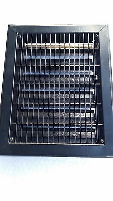 Restored Heavy Metal Floor or Wall Grate With Adjustable Louvers