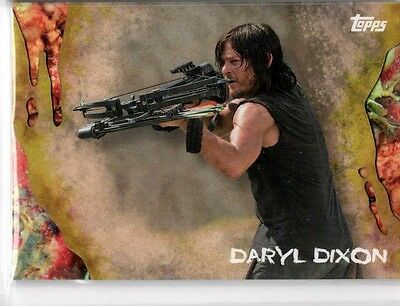 2016 Topps Walking Dead Survival Box Infected Parallel #3 Daryl Dixon /99