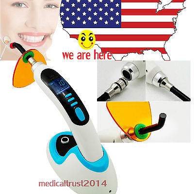 USA 5W BLUE 1500MW Wireless Cordless LED cure Curing Light Lamp w Whitening