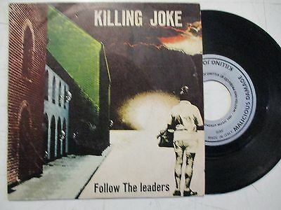 "KILLING JOKE - "" Follow the Leaders/ Tension "" -  7"" made in Italy"