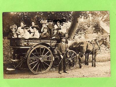 Coaching Horse & Carriage Isle of Man unused RP pc Arthur Hadley Ramsey Ref A790