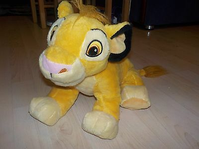Disney Simba Soft Toy - approx 1 Ft in Length - Good Condition - Disney Stamp